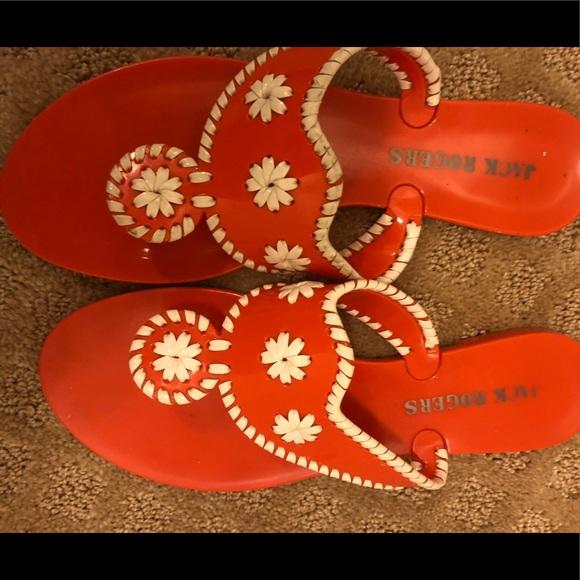 Jack Rogers Shoes - Jack Rogers Orange Signature Jelly Sandals